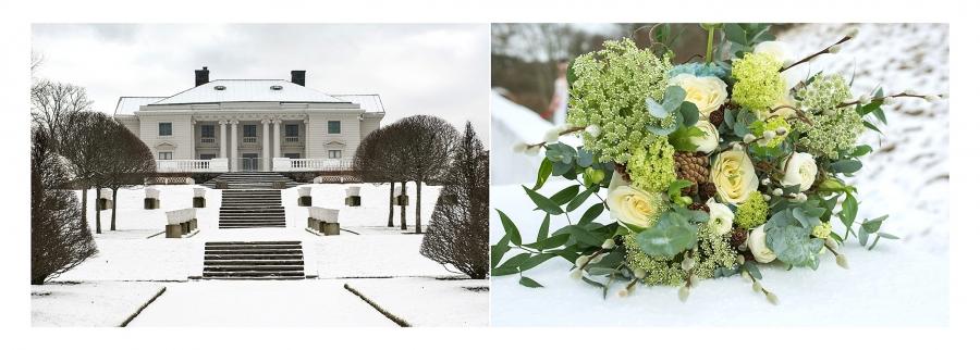 Gunnebo Slott Vinter Bröllop